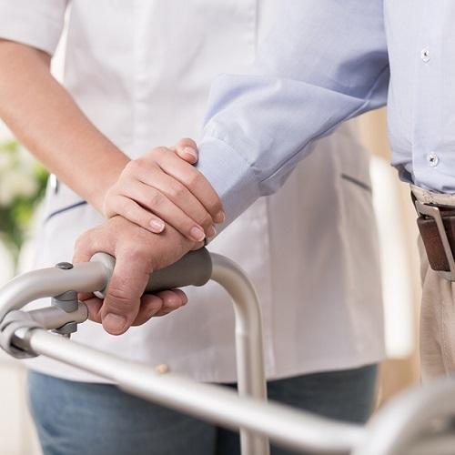 Elder Man Is Too Weak to Walk Unaided