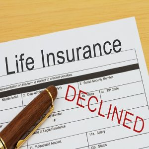 Life Insurance form declined