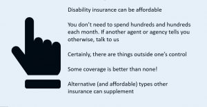 to show that disability insurance for dental hygienists and dental assistants is affordable