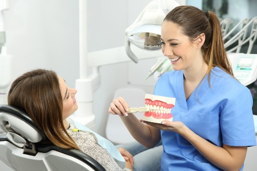 to show how happy dental hygienists and dental assistants are when they have disability insurance