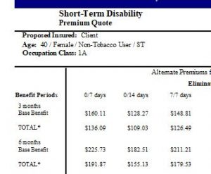 to show short-term disability insurance for housekeepers and housecleaners