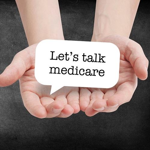 Medicare written on a speechbubble