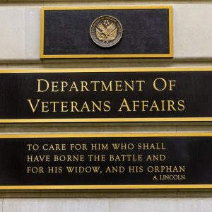 Sign for Department of Veterans Affairs