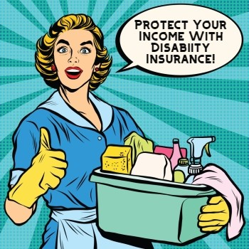 Housekeepers and housecleaners approving disability insurance
