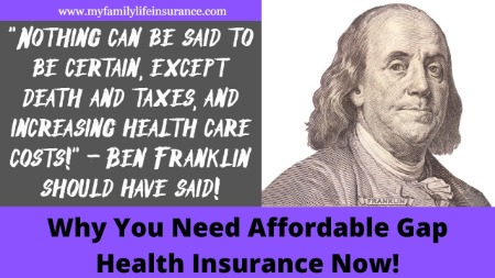 to show why a family needs affordable gap health insurance