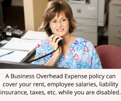 to show chiropractors a type of disability insurance that covers business expenses