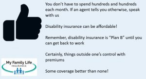 to show costs of disability insurance for massage therapists