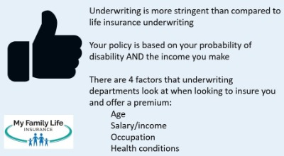 to show the underwriting requirements for chiropractors wanting disability insurance