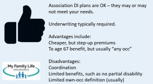 to show if an association disability insurance plan is right for podiatrists