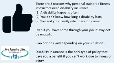 to show why fitness instructors and personal trainers need disability insurance