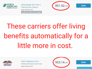 to show that life insurance with living benefits is worth the money