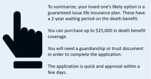 to summarize life insurance for people with down syndrome