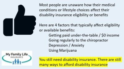 list disability insurance underwriting fails