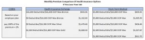 Monthly Premiums For Health Insurance Options If You Lose Your Job