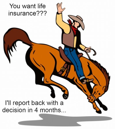 to illustrate how long life insurance can take and why you should try instant-approval term life insurance