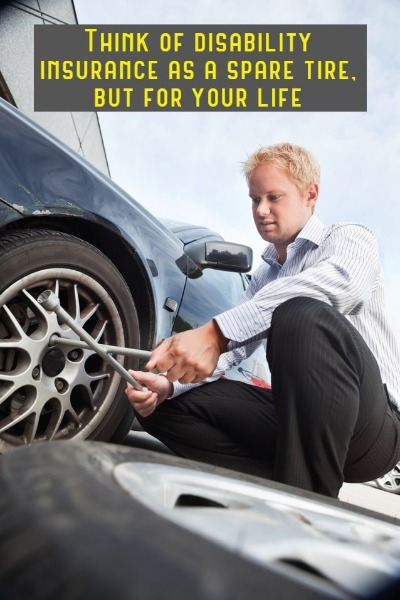 compare the use of a spare tire to that of disability insurance for millennials