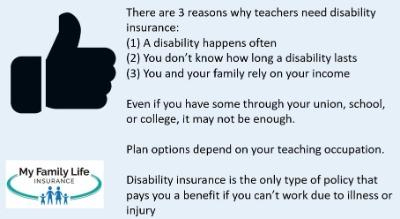 why teachers need disability insurance